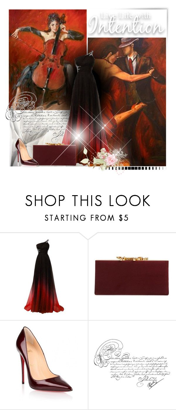 """""""Olivia"""" by lilarose111 ❤ liked on Polyvore featuring Jimmy Choo, Christian Louboutin and mark."""