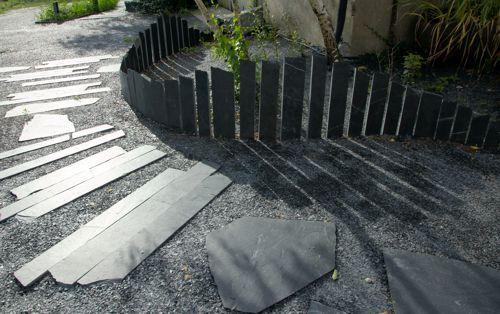 Palissade en ardoise Ardoisière extérieure deco aménagement