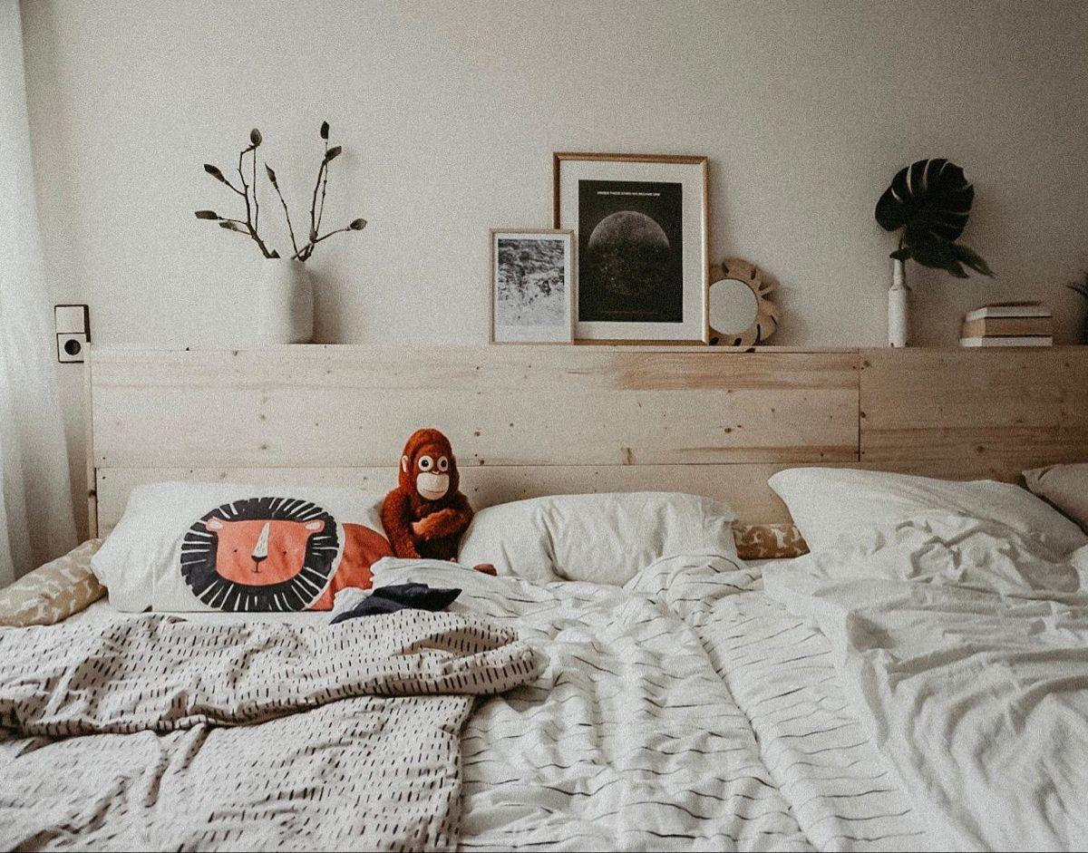 Ein Traum In Weiss Familienbett Aus Ikea Malm Bettgestell Zusammengebaut Luckenloser Matratzenubergang Hier Findet Ih Familienbett Familien Bett Bettgestell