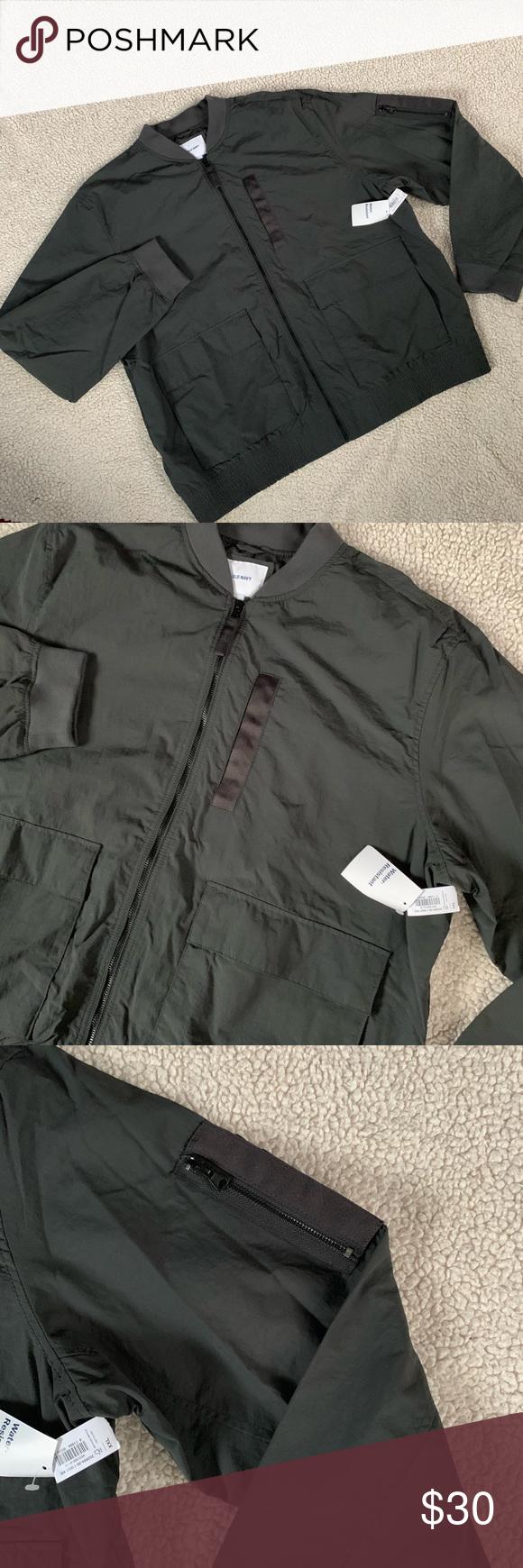 Old Navy Water Resistant Men S Bomber Jacket Xxl Clothes Design Fashion Design Fashion Tips [ 1740 x 580 Pixel ]
