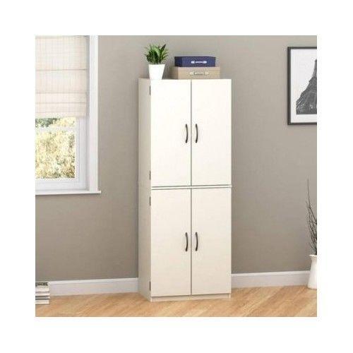 Storage Cabinet 4 Door Kitchen Pantry Organizer Shelves Cupboard Supplies Jars