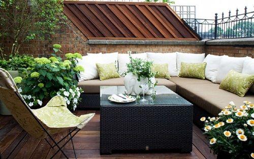 Foto decoraci n terrazas peque as deco terrazas con for Terrazze arredate