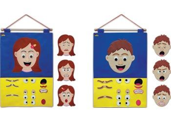 Mr & Miss Face Felt Activity Set of 2