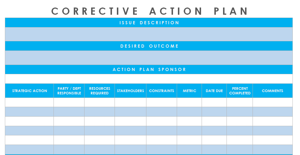 Get Corrective Action Plan Template Excel U2013 Microsoft Excel Templates  Microsoft Word Action Plan Template