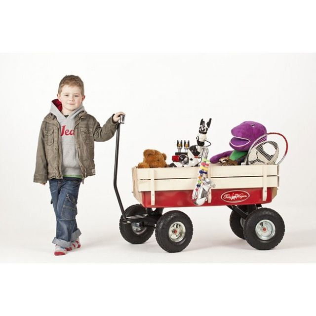 All Terrain Pull Along Red Wagon