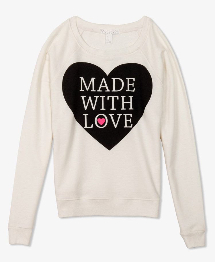 Made It With Love Pullover   FOREVER21 (chic sweatshirt trend)