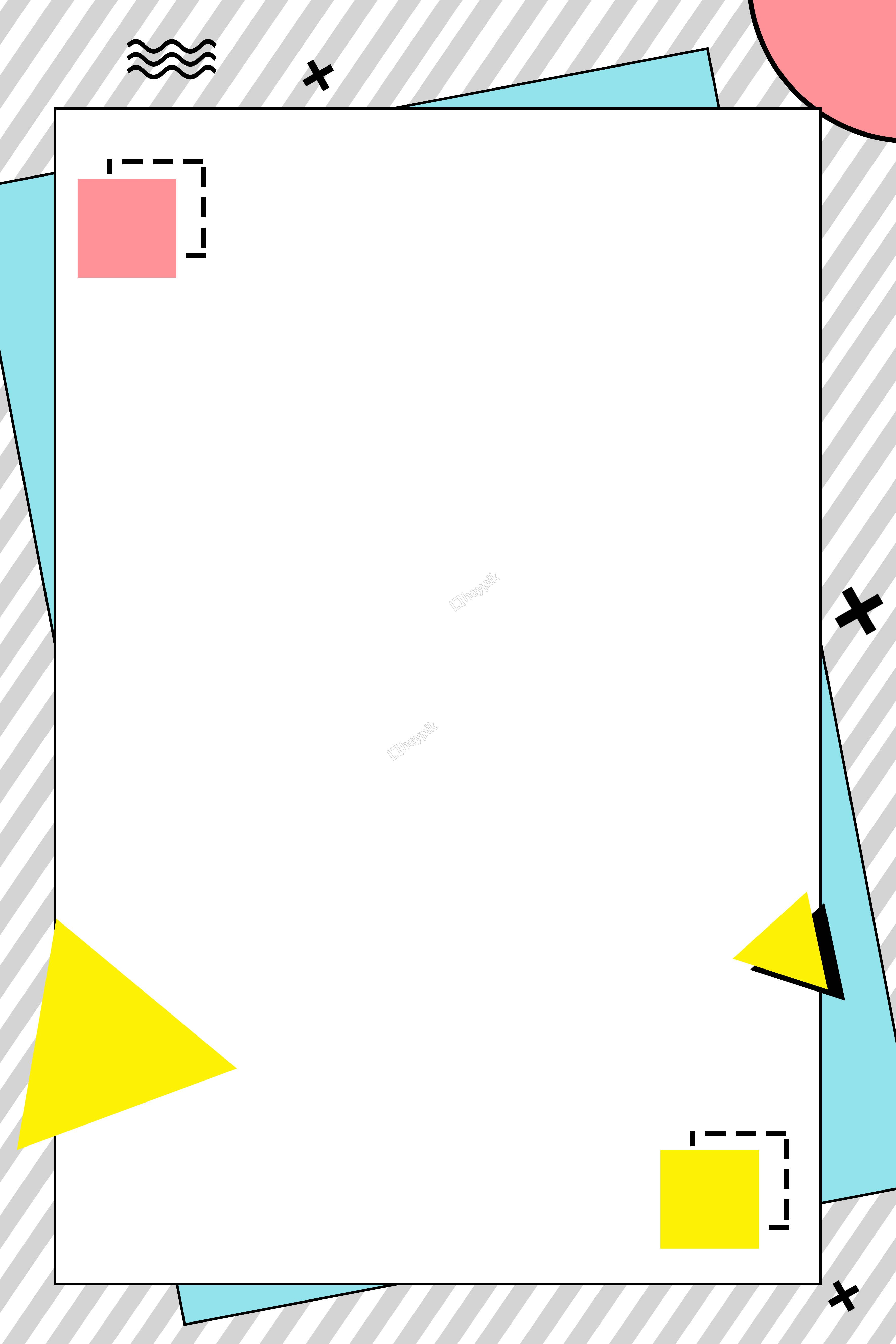 Simple geometric border stripe poster การออกแบบปกหนังสือ