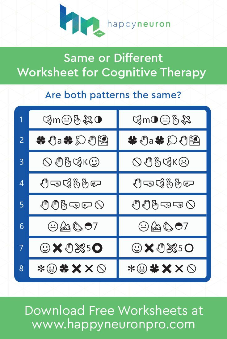 Pin by HappyNeuron Pro on Free Worksheets | Pinterest | Free ...