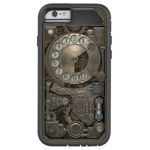 Steampunk Rotary Metal Dial Phone. Case. Tough Xtreme iPhone 6 Case