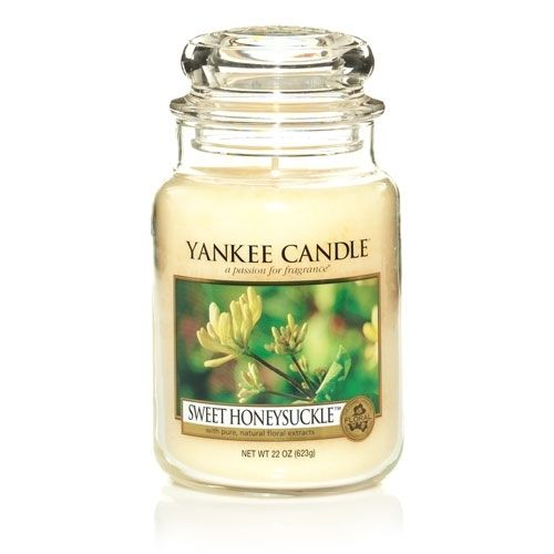 Yankee Candles are the best and I love honeysuckle!!