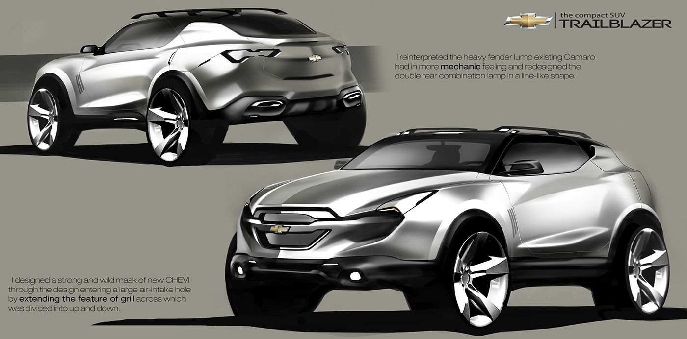 chevrolet compact suv concept on behance automobile sketch pinterest compact suv. Black Bedroom Furniture Sets. Home Design Ideas