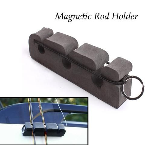 High Quality 3 Slot Portable Fly Fishing Magnetic Rod Holder
