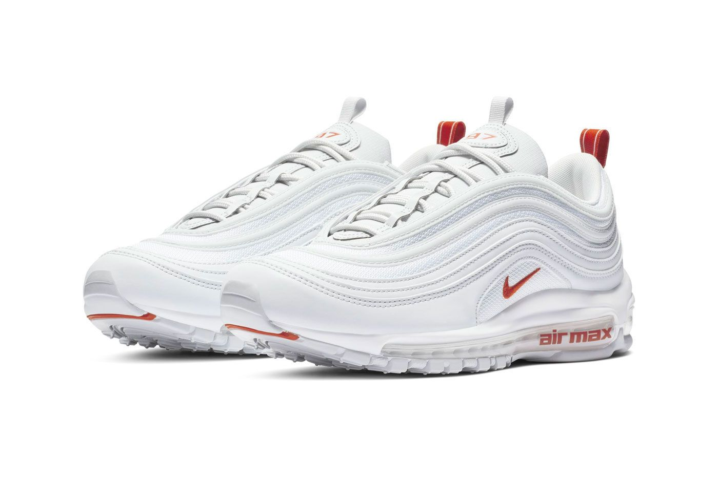 f4b0b06a329ca Nike Air Max 97 Team Orange Release Date sneaker shoes Pure Platinum White