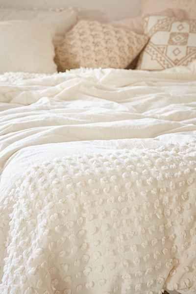 Plum Amp Bow Tufted Dot Duvet Cover Casa Duvet Covers