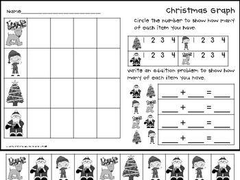 winter cut and paste graphs fab first grade favorites under 5 christmas worksheets. Black Bedroom Furniture Sets. Home Design Ideas