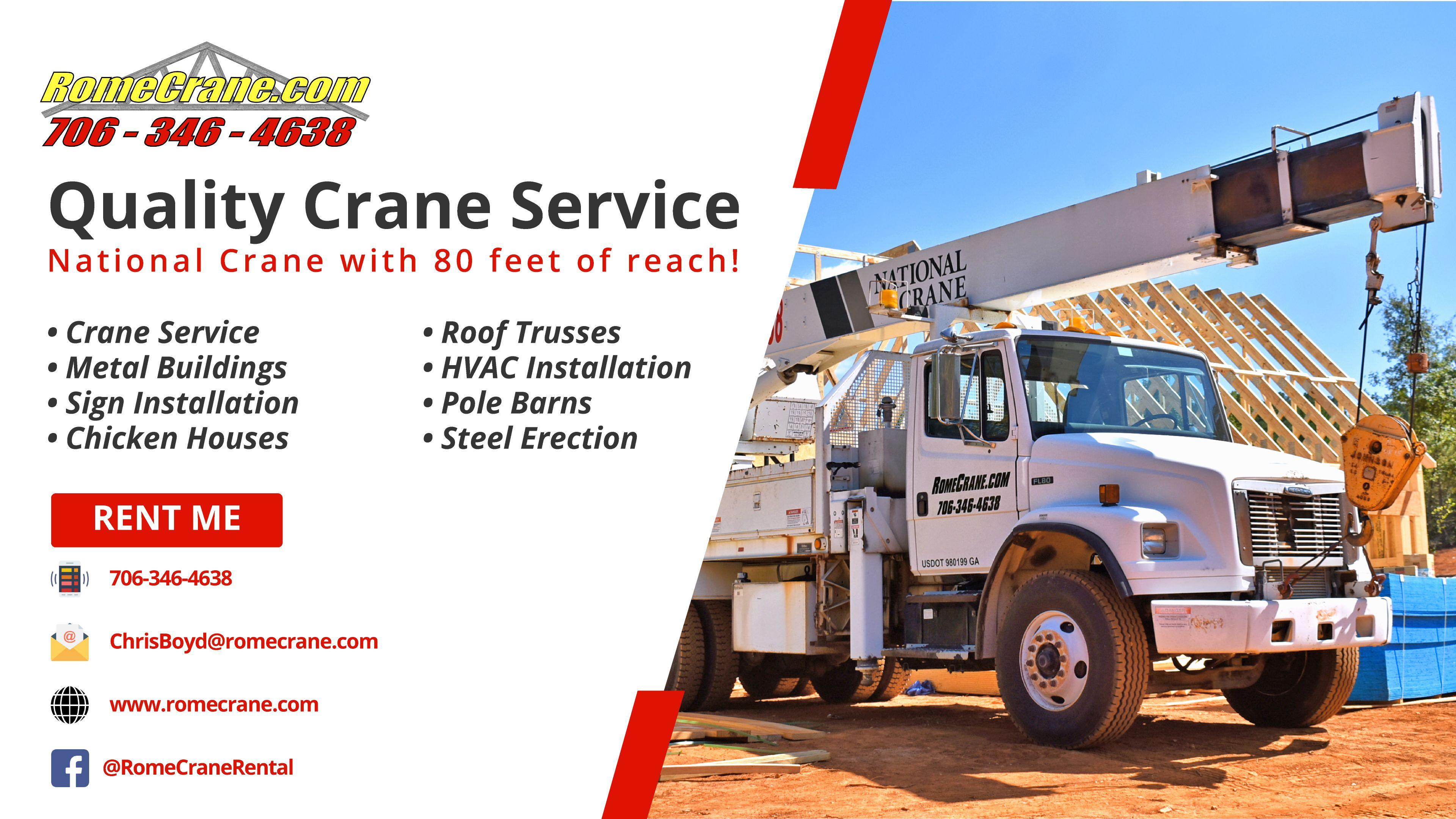 Rent Me! Call 7063464638 Rome Crane Rental