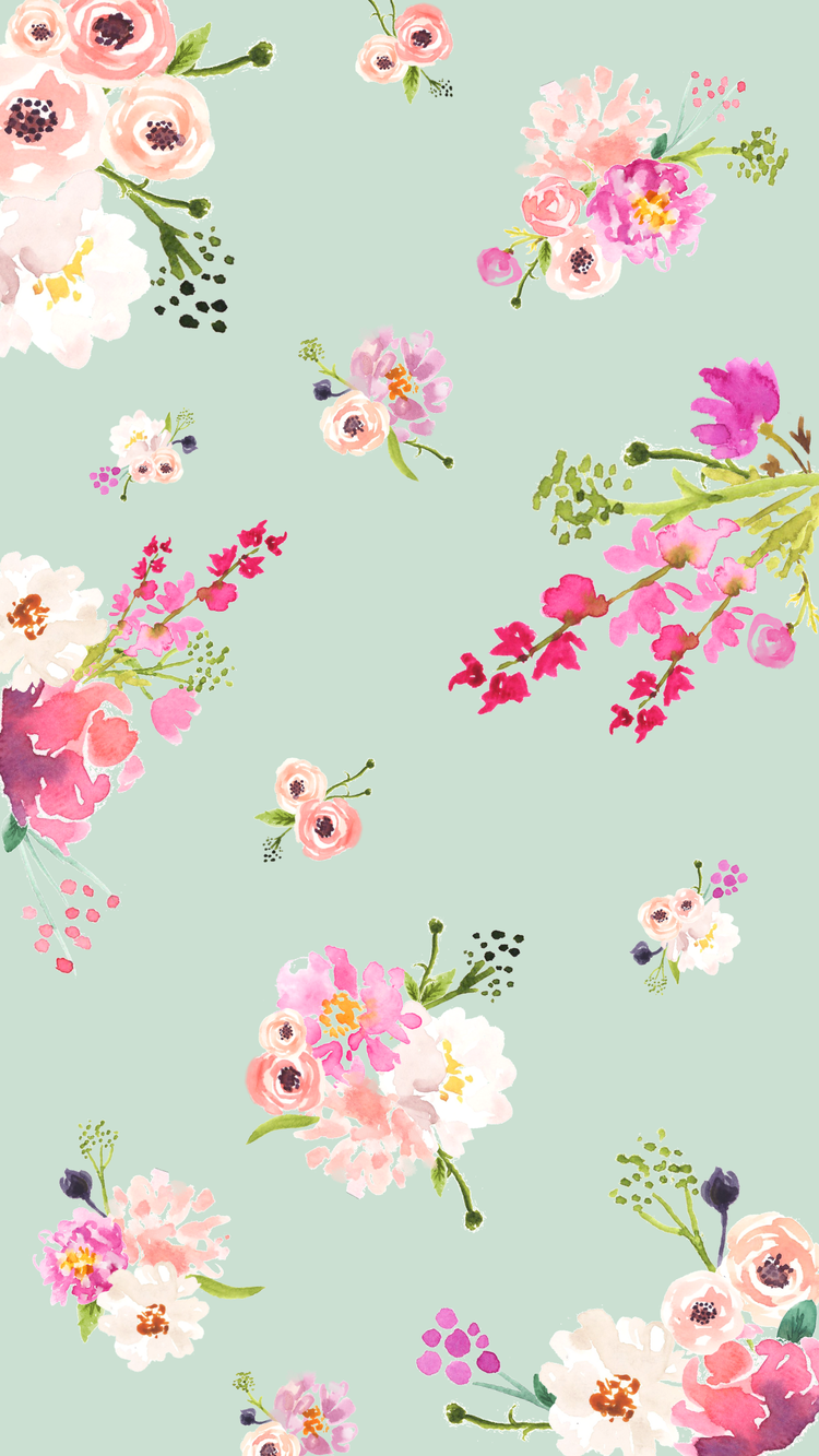 Free Cute Spring Phone Desktop And Zoom Backgrounds Love And Specs In 2020 Cute Flower Wallpapers Vintage Flowers Wallpaper Flower Phone Wallpaper