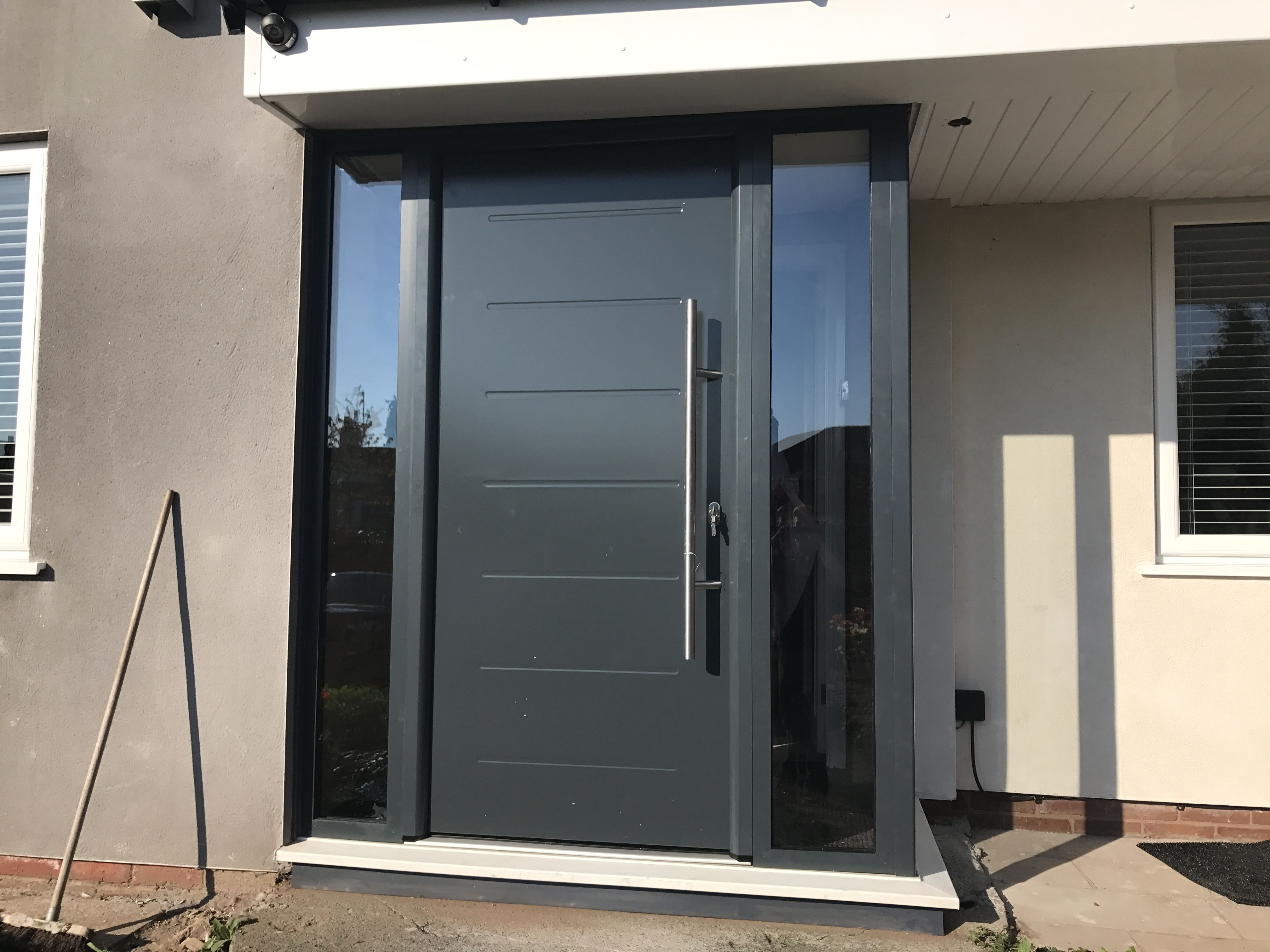 Aluminium porch made to measure long bar handle all in anthracite ...
