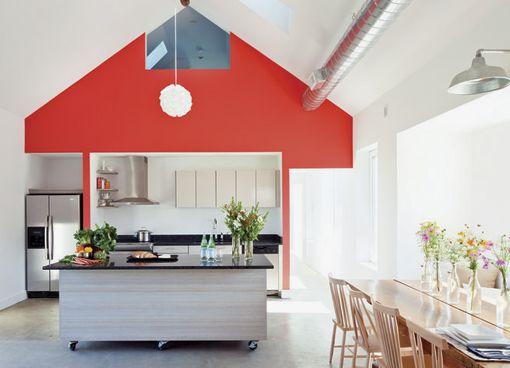 Cómo pintar una pared de un solo color: pared en rojo coral | Color ...
