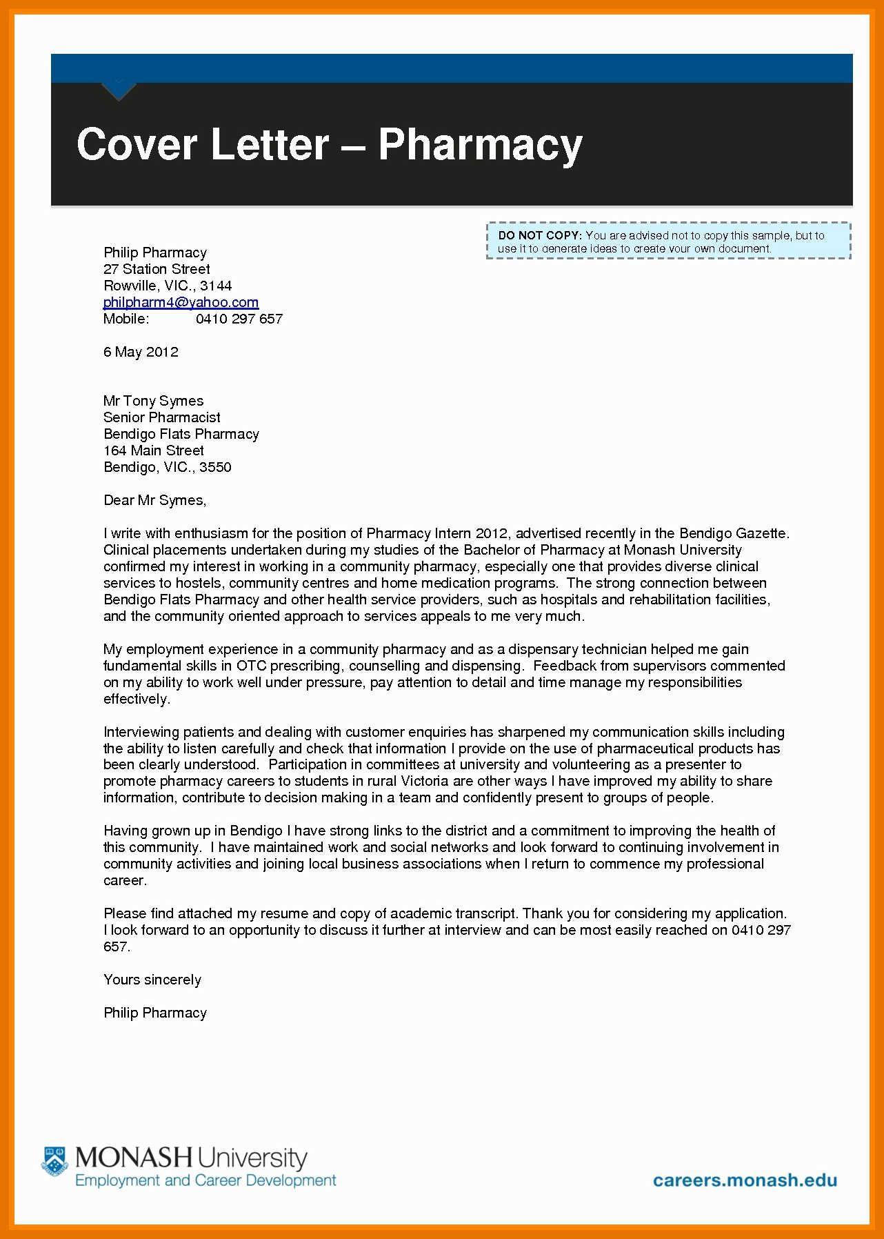 27 pharmacist cover letter resume cover letter examples