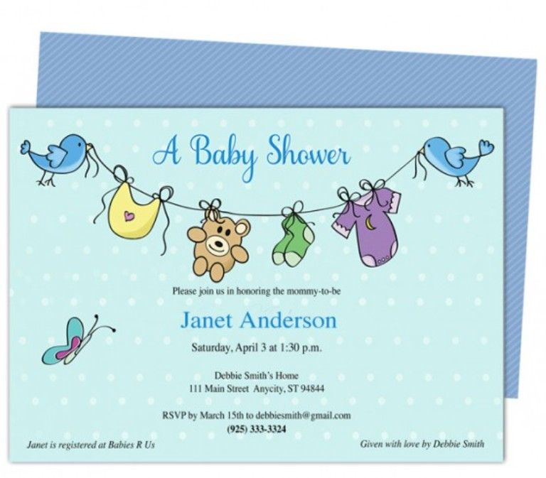 Baby Shower Invitation Templates for Word Invitation Sample