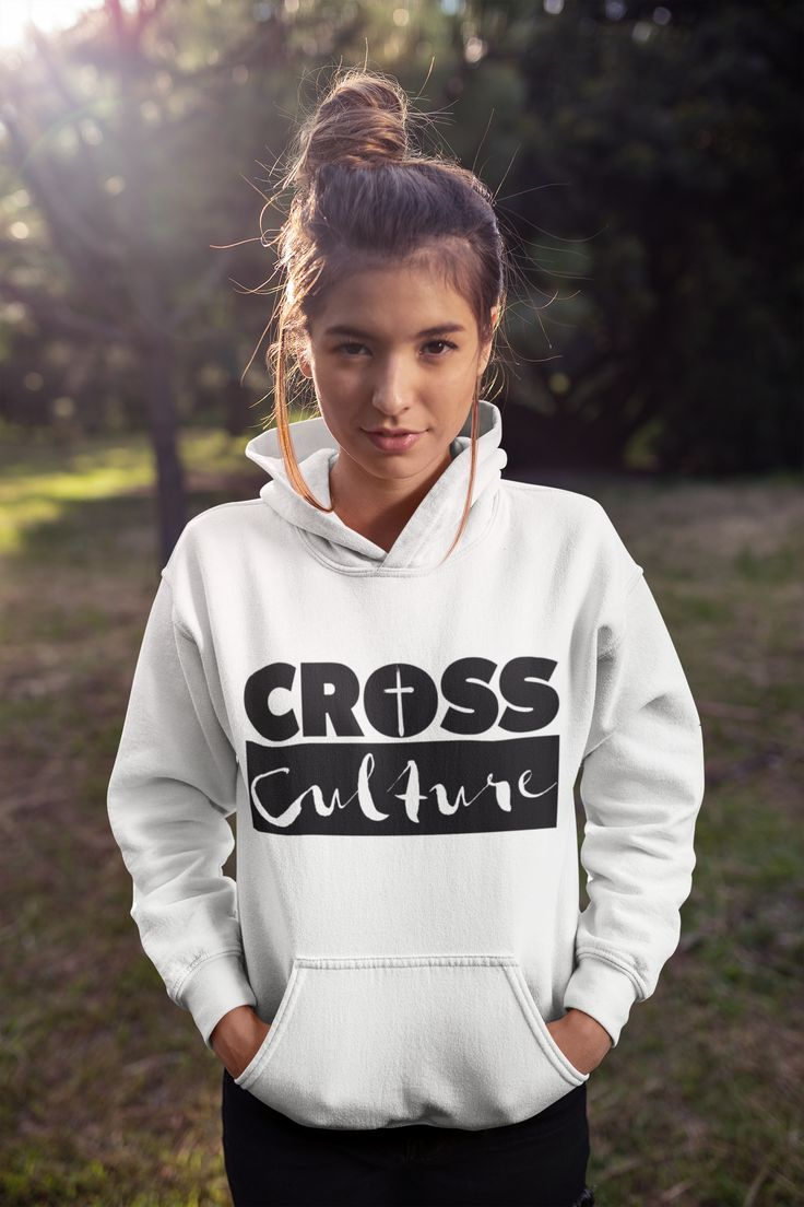 Unisex CROSS Culture Hoodie Represent your faith in style with this cute CROSS Culture hoodie in fashion colors!