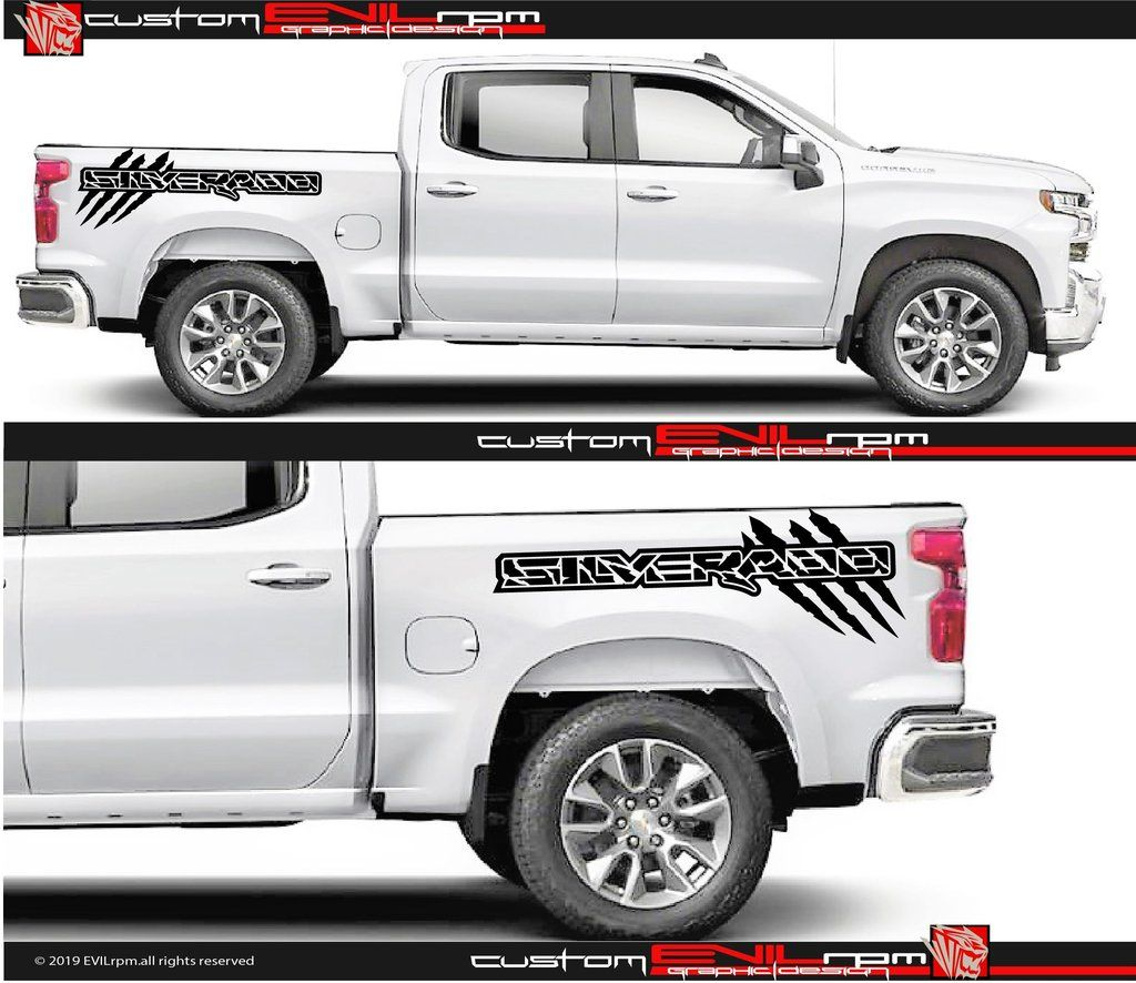 Truck Bed Vinyl Stripe Graphics For Ford F150 Raptor Chevy