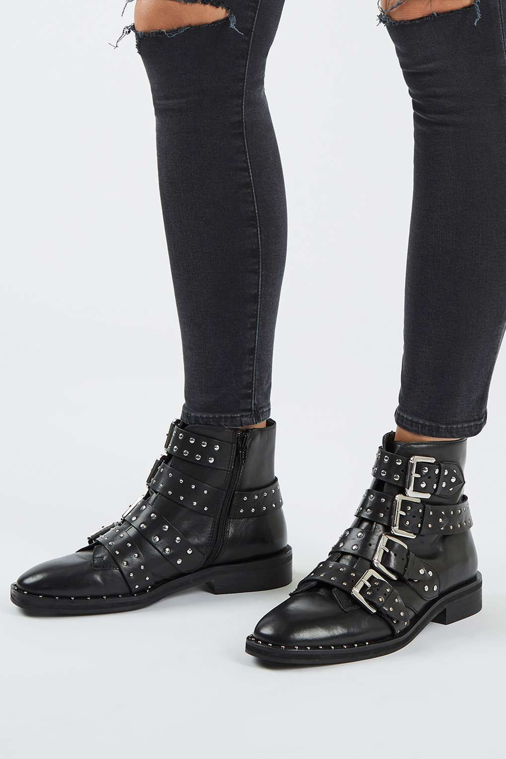 e4738fd3372 AMY Studded Ankle Boots