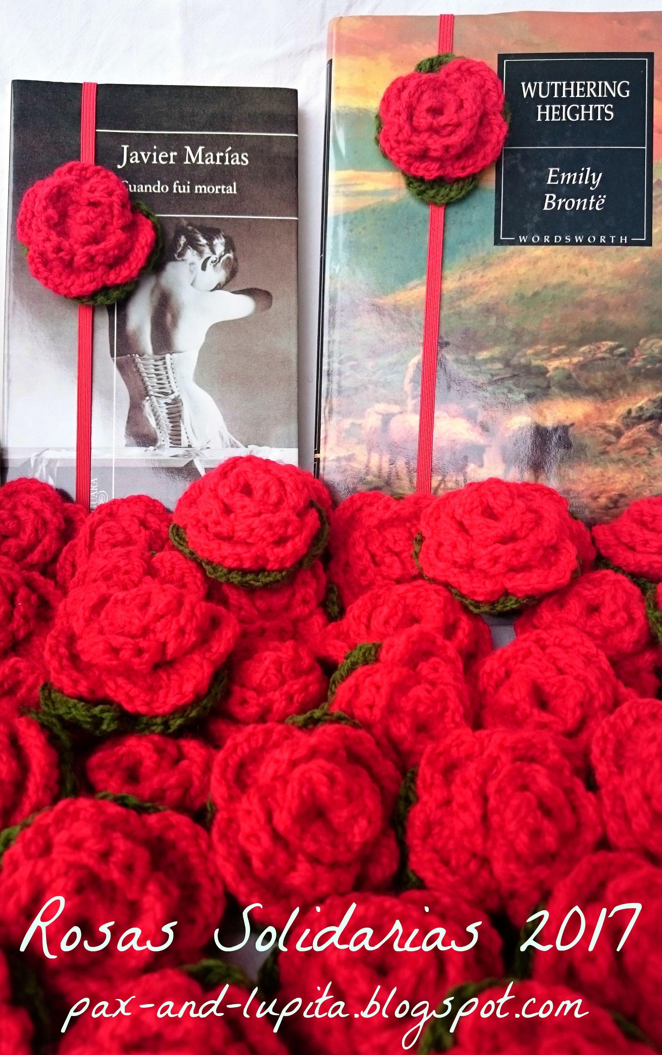 Día Del Libro 2017 Puntos De Libro A Ganchillo Rosas Solidarias