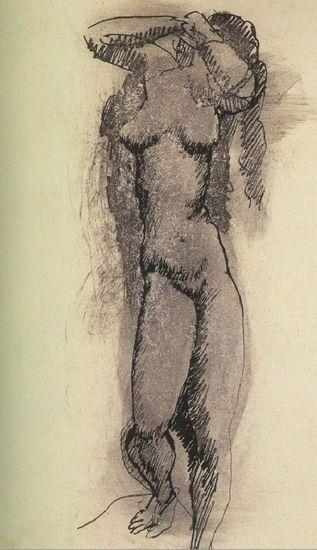 """Pablo Picasso - """"Femme nue"""". 1903 г"""