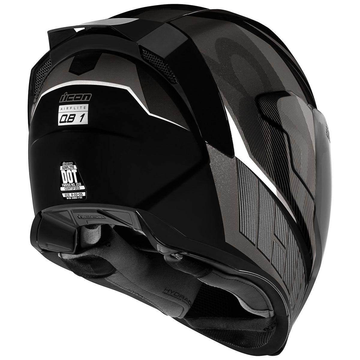 ICON Airflite QB1 Black Full Face Helmet 010112063 in