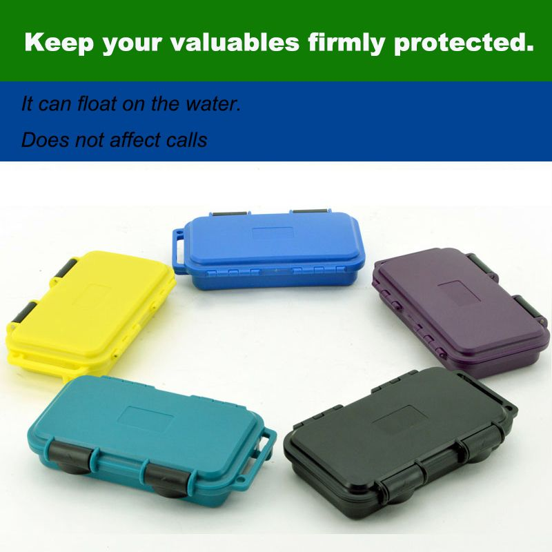 Waterproof Box Phone Case Shockproof Survival Outdoor Case Storage Carry Box Spare Part Box With Foam Lining Free Shipping W Tool Case Phone Cases Waterproof