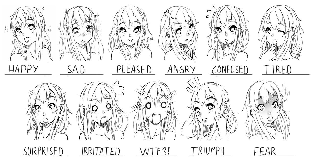 Images For > Determined Expression Anime expressions