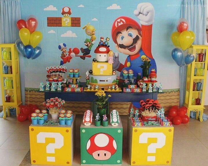 Escenario Mario Bross Fiesta De Mario Bros Decoracion De Mario Bros Fiesta De Cumpleaños De Mario