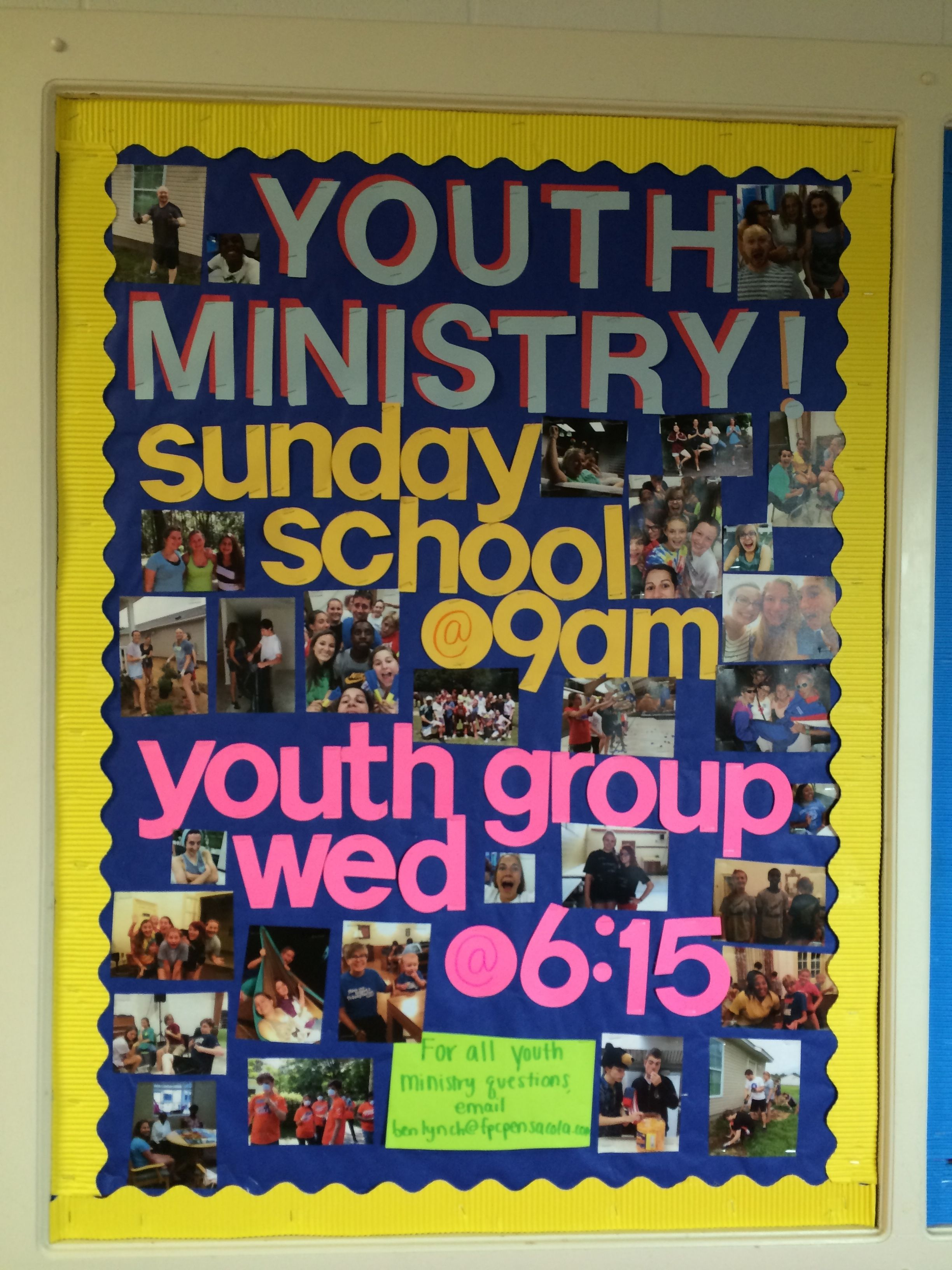 Youth Ministry Bulletin Board  Youth Director Stuff