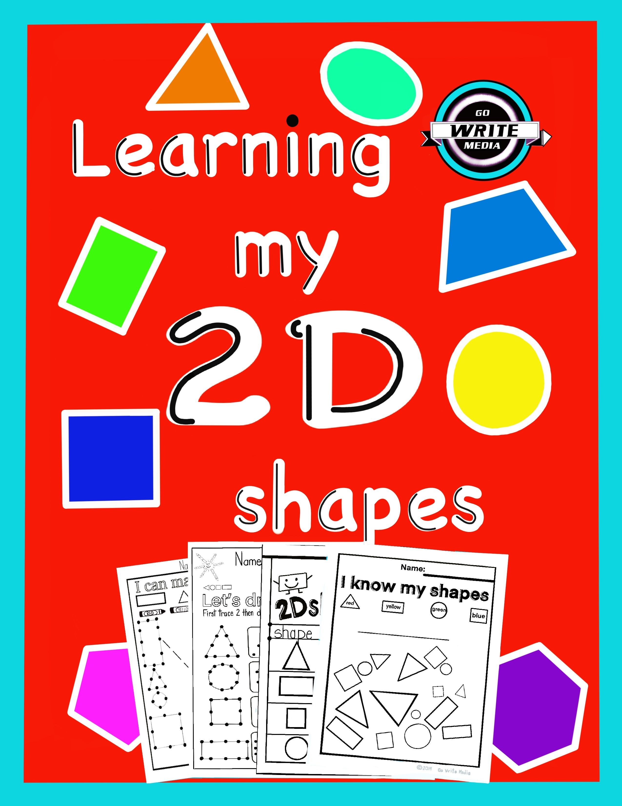 2d Shape Worksheets Are Perfect For Your K 1 2 Class For