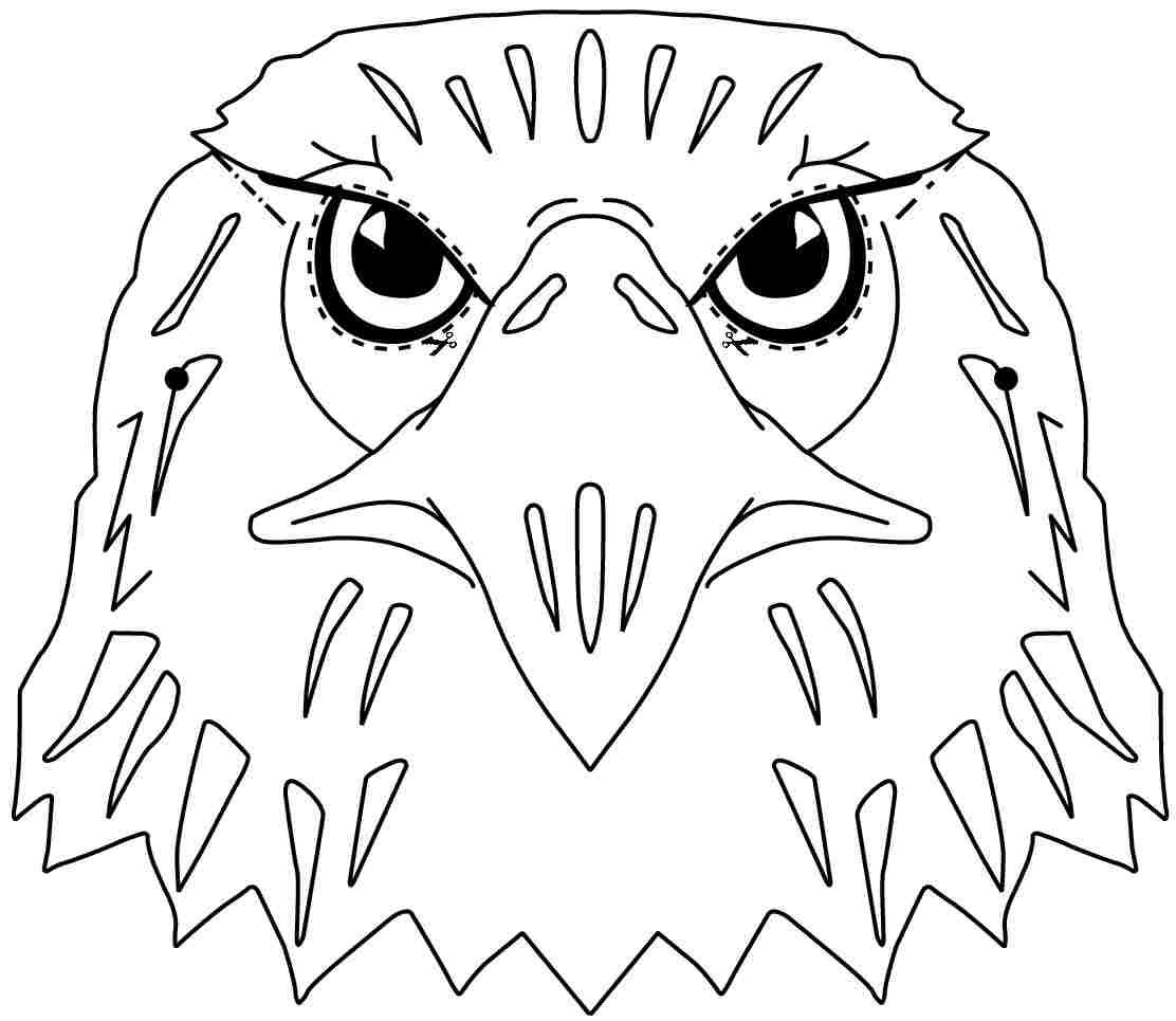 Colouring Pages Animal Eagle Free Printable For Preschool