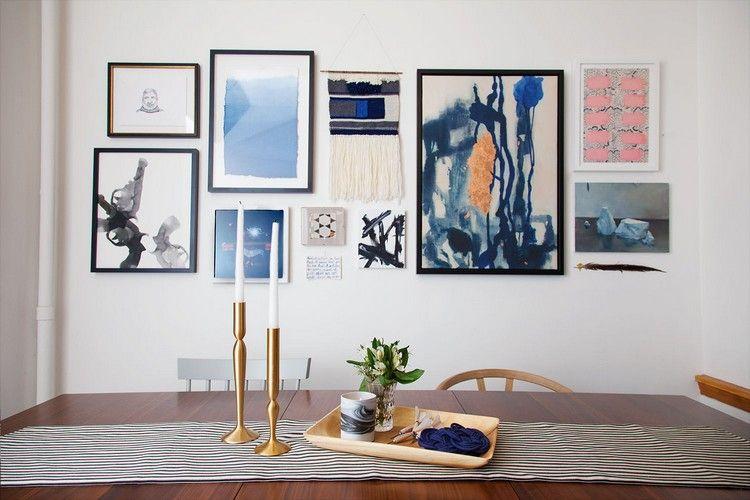 Décoration murale salle à manger en 30+ propositions artistiques à
