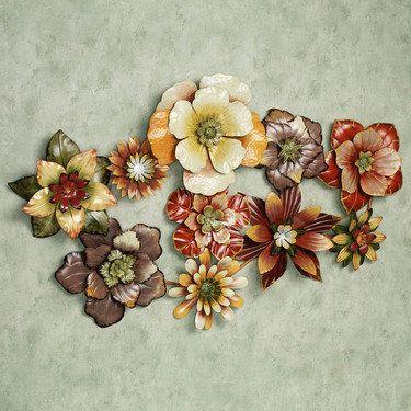 Floral Burst Metal Wall Sculpture & Floral Burst Metal Wall Sculpture | Clever crafts | Pinterest ...