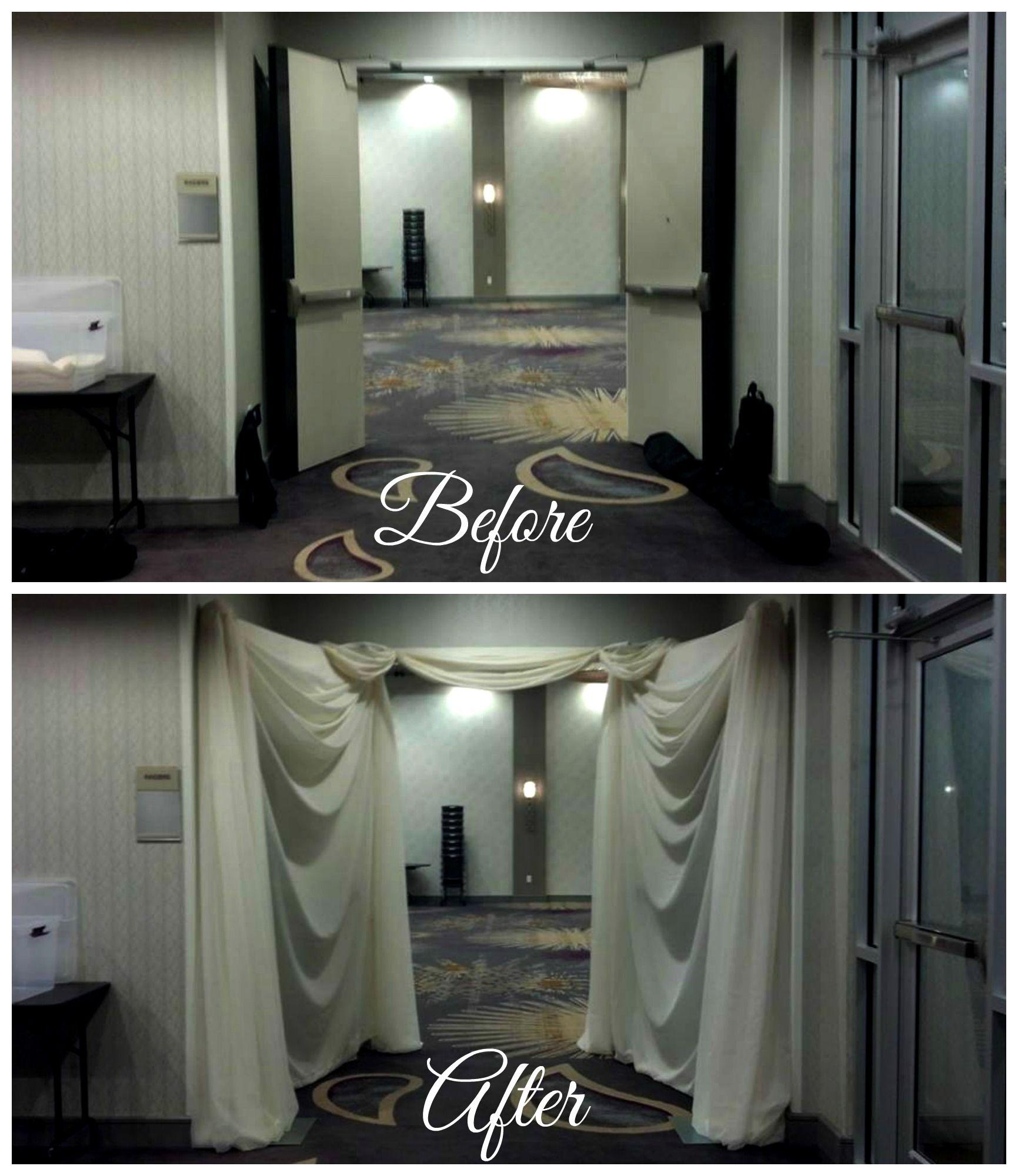 Drape Wedding Entrance Doors Beautiful Boydsevents Draping By