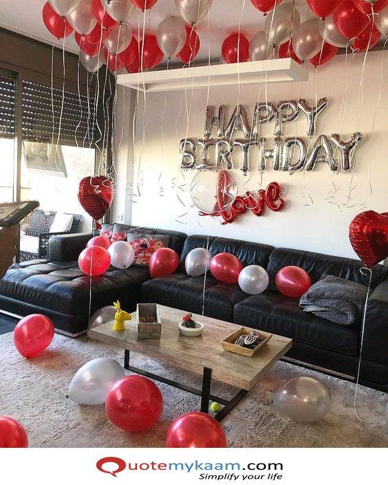 1000 Birthday Room Decoration Ideas Surprise Birthday Decoration Surprise Birthday Decorations Birthday Room Decorations Simple Birthday Decorations