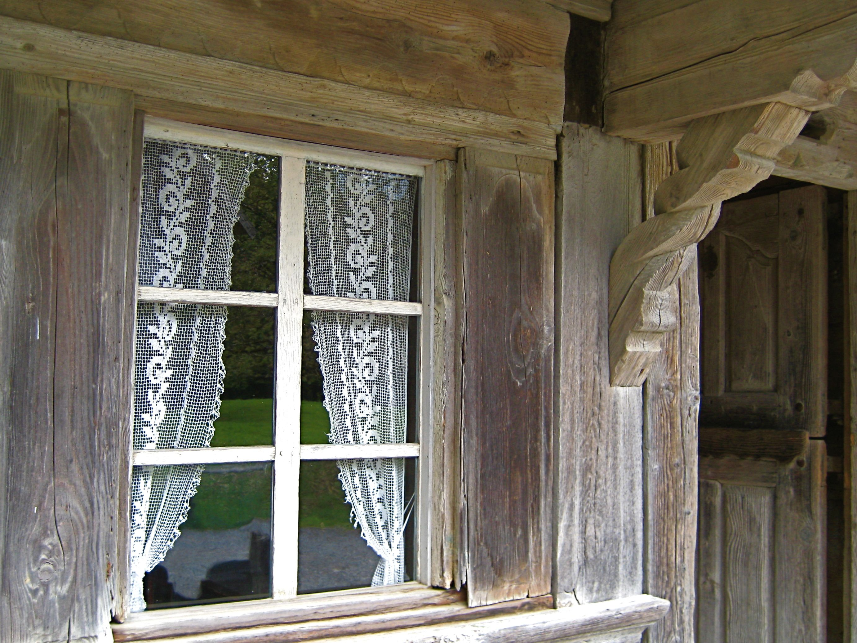 An Ancient Swiss Farmhouse Lace Curtains