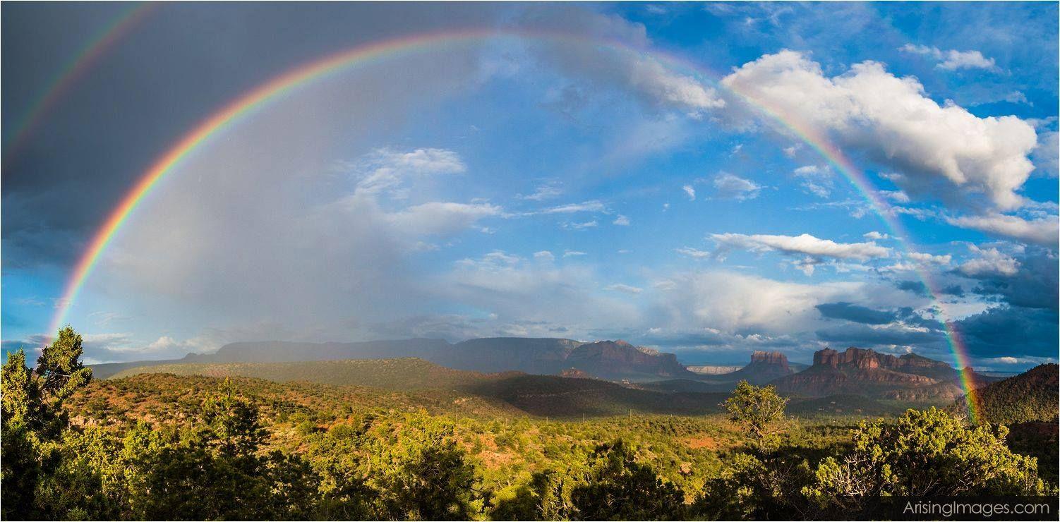 Beautiful Rain and Rainbow Pictures in Sedona! #ArisingImages #Photography #Beautiful #Rain