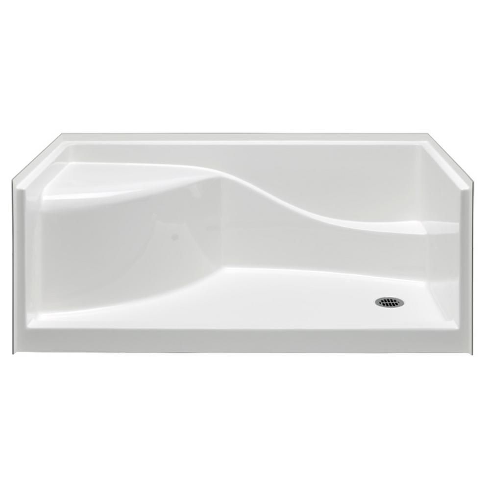 Dreamline Slimline 30 In X 60 In Single Threshold Shower Base In
