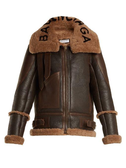 76ae8ae4c Balenciaga Le Bombardier shearling jacket | casual clothes ...
