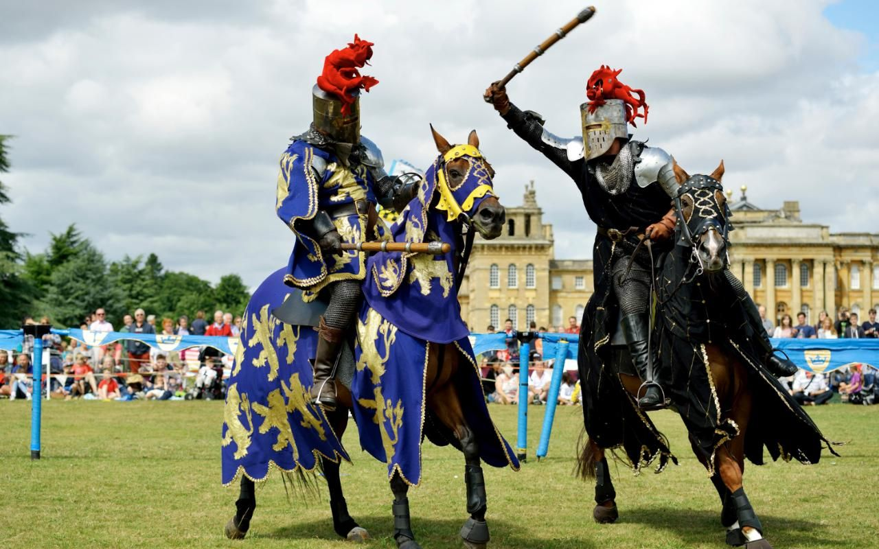 Jousting Tournament at Blenheim Palace, Oxfordshire