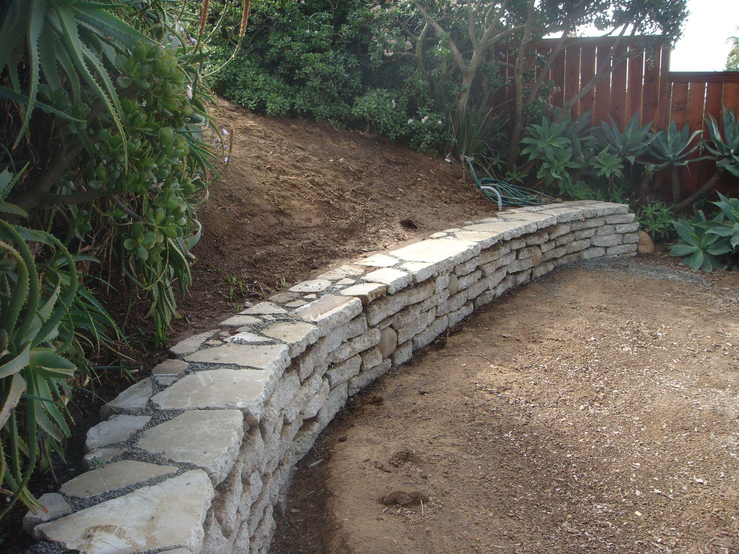 one more of the urbanite retaining wall backyard pinterest