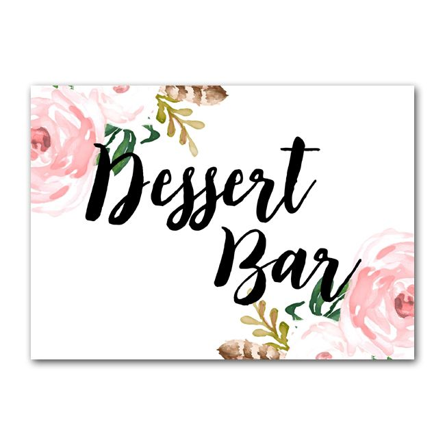 outdoor table decor forest wildflower rustic wedding signage Mountain dessert sign printable wedding Dessert Bar Sign