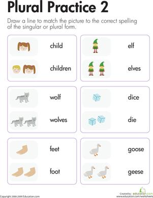 Get a Grip on Grammar: Irregular Plural Nouns #1 | Get a grip ...