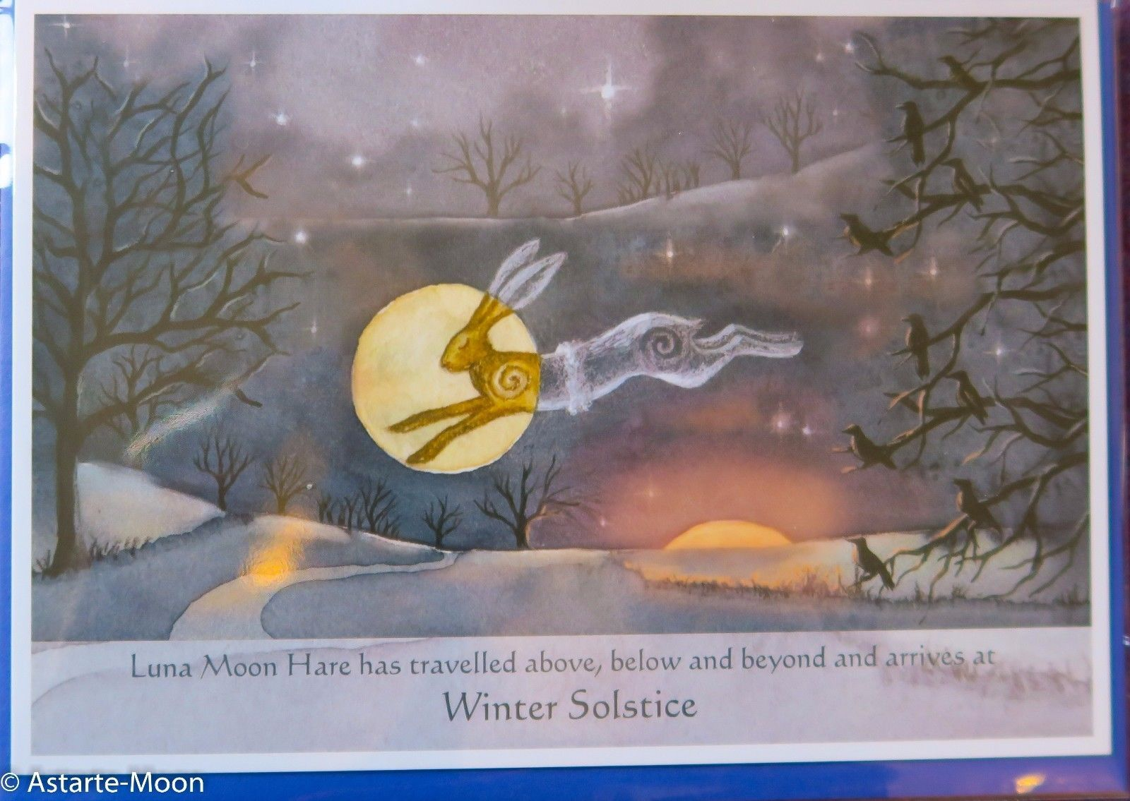 Wendy Andrew yule christmas dec birthday card pagan wife daughter goddess hare